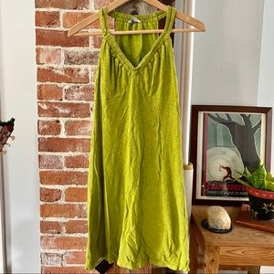 COPY - Athleta Racerback Green Sleeveless Dress